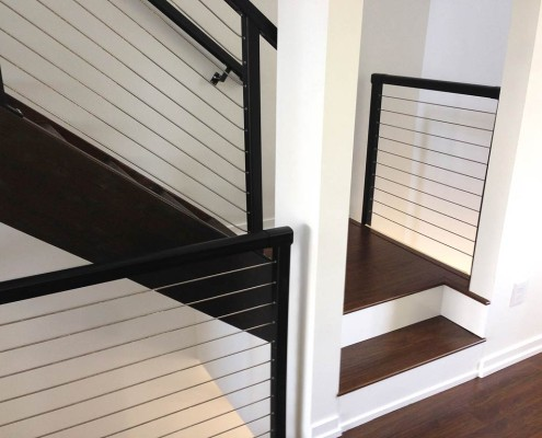 Residential Cable Railings on Stairs
