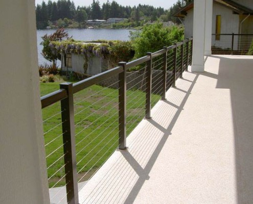 Cable Railing with Square Top Rail