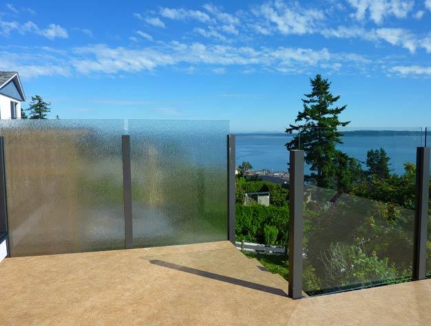 excell custom glass railing design