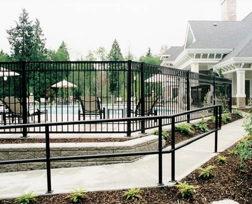 Custom Picket Fencing for Pool Surround