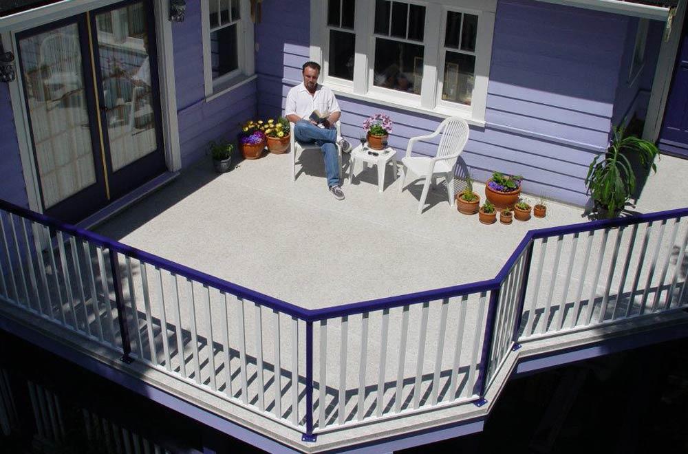 Aluminum Deck Railing Glass Railing Powdercoated