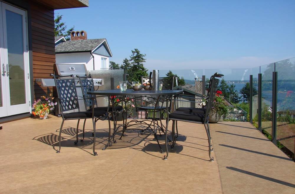 Aluminum deck railing, glass railing, powdercoated aluminum