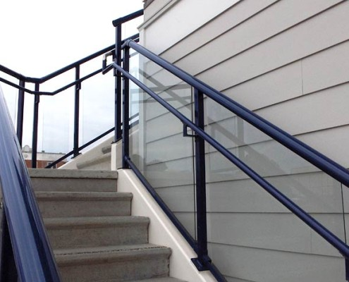 Glass Railing & Handrail on Stairs