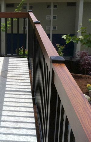 Wood Grain Finish on Railings