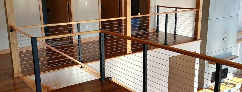 Residential Interior Stair Cable Railing Excell Railings