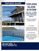 Excell Railing Topless Glass System PUP Post online brocjure