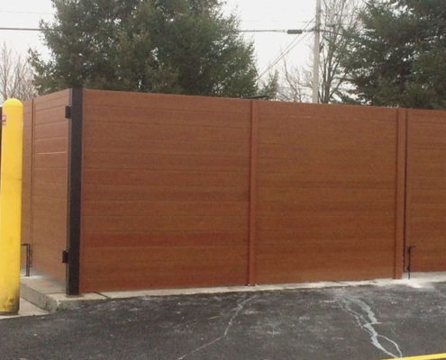 Enclosed Fencing and Gate - Knotwood Aluminum Planks