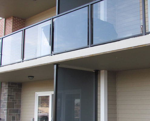 Glass Privacy Panels on Balconies