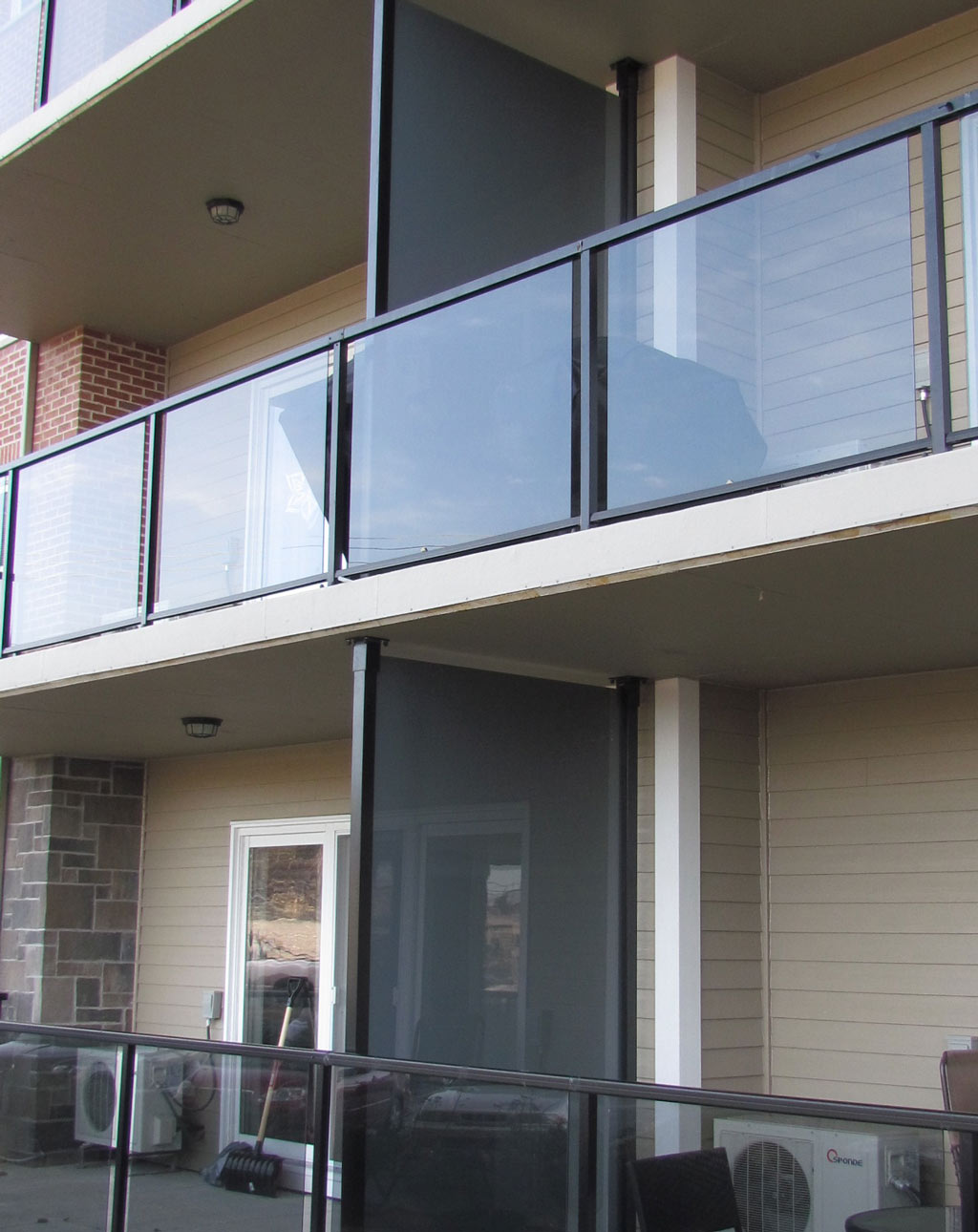 Tinted Glass Balcony Privacy Panels Excell Railings