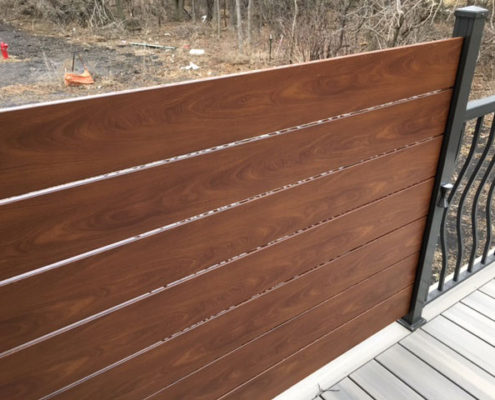 Knotwood Aluminum Plank Deck Privacy Screen