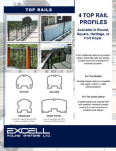 Excell Railing Top Rail Profiles Brochure